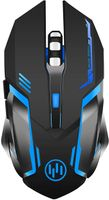 Wireless Gaming Mouse,  Rechargeable Computer Gaming Mouse Unique Silent Click, 7 Breathing Led Light, 3 Adjustable DPI,Iron Plate, Power Saving Mode for Laptop/PC/Notebook