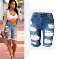 Sexy Womens Elastic Hole Denim Ripped Jeans - womens jeans
