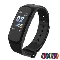Smart Bracelet C1plus  Color Screen Blood Pressure Fitness Tracker Heart Rate Monitor Smart Band Sport for Android IOS