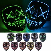 2019 Halloween LED Mask Cosplay Costume Light Up Party Mysterious decor Supplies Glow skull masks