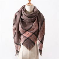 Women's Plaid Cashmere Scarf / Shawl. Shipping included in price!