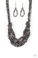 Paparazzi City Catwalk - Black Necklace #711 - Sweet Street Boutique