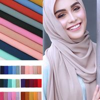1 pc popular Malaysia style  plain bubble chiffon scarf - My Flvshy Closet