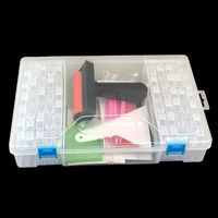 64pcs Plastic Diamond Painting Accessories with Bottles Container Storage Box