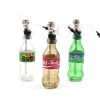 Beverage bottle shape pipe, glass hookah pipe, chicha - smoking weed, narguile smoking a pipe, free shipping