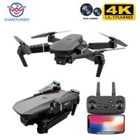 4k dual camera black color drone with controller