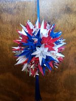 Red, white and blue with stars kusudama