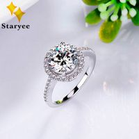 14K White Gold Ring With 1ct Diamond For Women