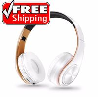 Stylish Bluetooth Wireless Headphones Over Ear Noise Cancelling w/ Mic, SD Card - Pizotec