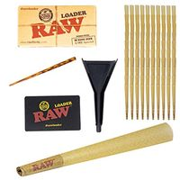 100 RAW Cones Classic King Size, with RAW Cone Loader, Pre-Rolled RAW Rolling Papers