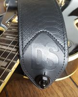 Dragon Scale Black Snake Electric Guitar & Bass Strap & Accessories Package