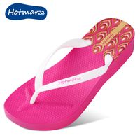 Original Fashion Woman Flip Flops with 3D Printing of Peacock Feathers  New Slim Fashion Beach Wedge Sandals All Size Color - Hotmarzz Flip Flops