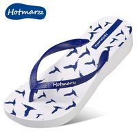 Original Fashion Woman Flip Flops with 3D Printing of Sea Doves Birds New Slim Fashion Beach Wedge Sandals All Size Color - Hotmarzz Flip Flops