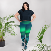 Twilight Of The Polar Handmade All-Over Print Plus Size Leggings - fashion-art-jewelry