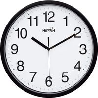 10 inch Silent Quartz Decorative Wall Clock Non-Ticking Classic Digital Clock Battery Operated Round Easy to Read Home/Office/School Clock (Black)
