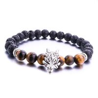 Aromatherapy Oil Diffuser Lava Stone Bracelet - Gold of Wolves