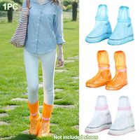 1pair Waterproof Protector Shoes Boot Cover Unisex ribbon Rain Shoe Covers High-Top Anti-Slip Rain Shoes Cases