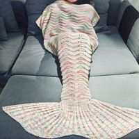 Handmade Crochet Yarn Mermaid Blanket