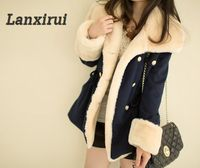 Lanxirui 2018 Keep Warm Winter Warm Double -Breasted Wool Blend Jacket Fashion Women Coat Aug 0807 - www-kitchen-bath-com
