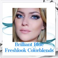 Brilliant Blue Freshlook Colorblends Colored Contact Lenses