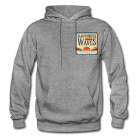 Happiness comes in Waves Hoodie - graphite heather