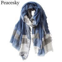 British Style Plaid Scarf product name- BORN TO GARDEN