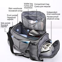 Multifunction Sports Bag With Extra Storage