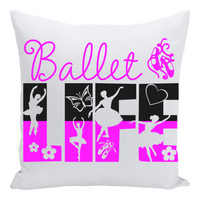 Ballet Life Throw Pillow With Cover and Pillow - Sports Apparel Designs