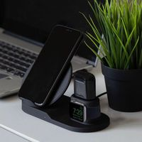 Wireless Charger Stand for iPhone AirPods Apple Watch, Charge Dock Station Charger