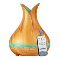 Remote Controlled Wood Grain Diffuser, large volume (400mL) - Oil Diffuser Essentials