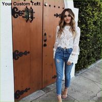 Style Fashion Summer bell sleeve laced crop tops - Summer Fashion for Ladies