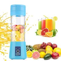 WX 380ml portable blender electric juicer USB charging smoothie blender Mini juice maker Cup Home mixer food processor 4/6 blade - Vision production