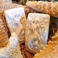 The Midwest Mermaid Company Soap Mermaid Gift Set of 2 - 1 of each Style Lavender & Sea Oats Mermaid Soap