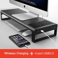 Genious Smart Base 2.0™ - Aluminium Alloy Base Stand with USB 3.0 Ports and Wireless charging