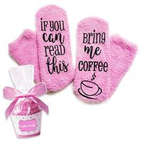 Funny Novelty Luxury Socks - Coffee Lovers Gifts for Women