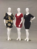 Abstract Plus Size Egghead Female Mannequin
