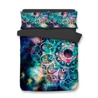 2/3pcs/set 3D Galaxy and Bohemia Bedding Set - Save more live more for less