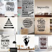 Motivation Quotes Work Hard Sentence Vinyl Wall Stickers