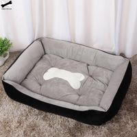 Bone Pet Bed Warm Pet Products For Small Medium Large Dog Soft Pet Bed  Washable House For Cat Puppy Cotton