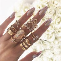 Gold Joint Ring Set