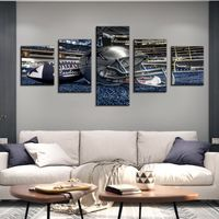 5 Panel Dallas Cowboys Canvas Prints Painting Wall Art NFL Sport Fans Pictures Modern Artwork Living Room No Frame Home Decor