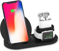 best selling 2019 products Qi Wireless Charging Pad Charger For IWatch 5 For Dock For Iphone 11 support dropshipping