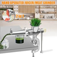 2 In 1 Household Hand Operated Juicer and Meat Grinder
