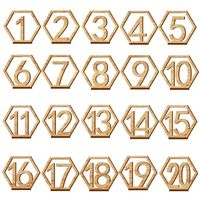 Table Numbers - Hexagons