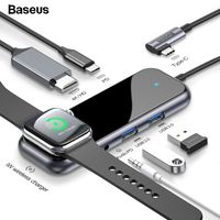 Baseus USB Type C HUB to HDMI RJ45 Multi USB 3.0 USB3.0 Power Adapter For MacBook Pro Air Dock 3 Port USB-C USB HUB Splitter Hab - Starttech Online Market