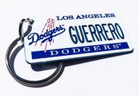 Los Angeles Dodgers personalized keychain tag