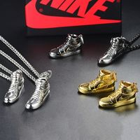 925 Sterling Silver Gold Black AJ Air Shoe Jordan Mini Sneaker