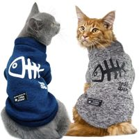 Cute Cat Clothing Winter Pet Puppy Dog Clothes Hoodies For Small Medium Dogs Cats