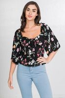 Floral Print Crop Top - Be you new  fashion
