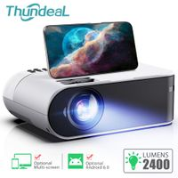 Mini Projector Portable WiFi Android 6.0 Home Cinema for 1080P 2400 Lumens